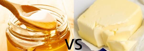 ハチミツVSバター