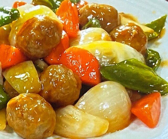 【ソレダメ】肉だんごで作る酢豚風肉だんごのレシピ作り方 (10月7日)業務スーパー冷凍食品レシピ