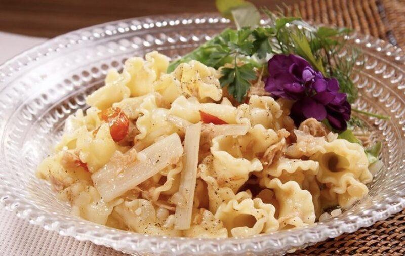 【青空レストラン】ウドとトマトのサラダパスタの作り方 生パスタレシピ (3月6日)