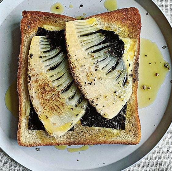 のりチーズのたけのこトースト スッキリ