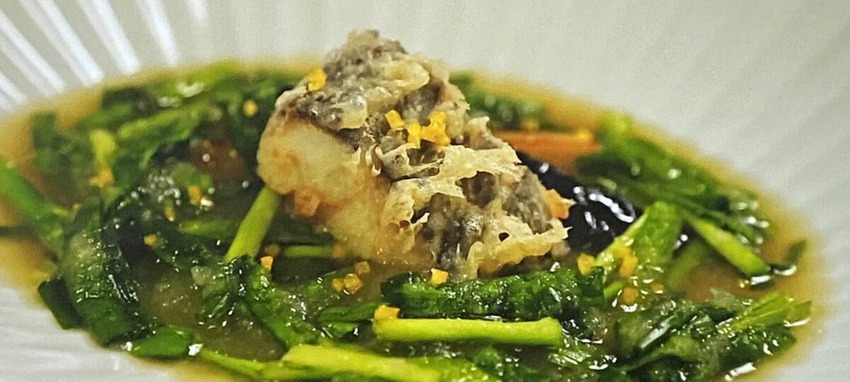 ニラのみぞれ仕立て 白身魚の天ぷら あさイチ