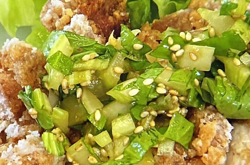 【青空レストラン】油淋鶏セロリソースの作り方 江戸川セロリのレシピ(5月1日)