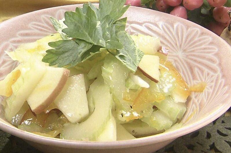 【青空レストラン】セロリンゴサラダの作り方 江戸川セロリのレシピ(5月1日)