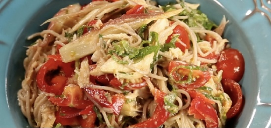 【土曜はナニする】焼きサバと夏野菜のヌードルサラダ&みそドレッシングの作り方 腸活ベジたんサラダ Atsushi(あつし)さんレシピ
