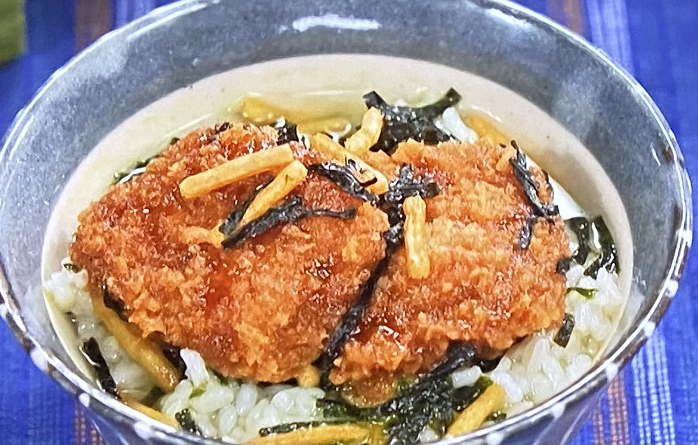 ソースとんかつ茶漬け 冷凍食品アレンジ ニッポンドリル