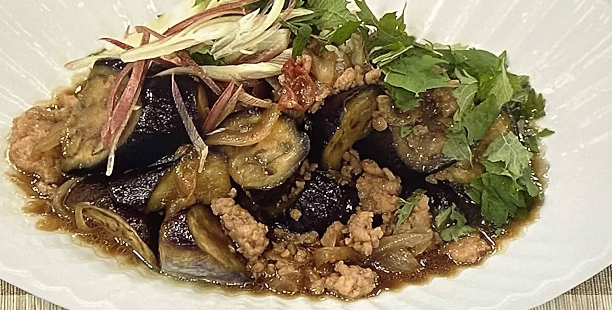 鶏ひき肉となすの炒め煮 あさイチ