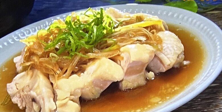 鶏もも肉のネギと生姜の中華風香味醤油 ヒルナンデス