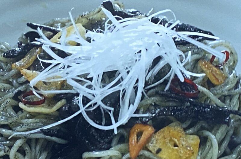 【相葉マナブ】するめいかの黒作りペペロン焼きそばの作り方 海の幸博レシピ(8月22日)