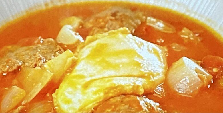 ひき肉のトマト味噌煮込み ソレダメ
