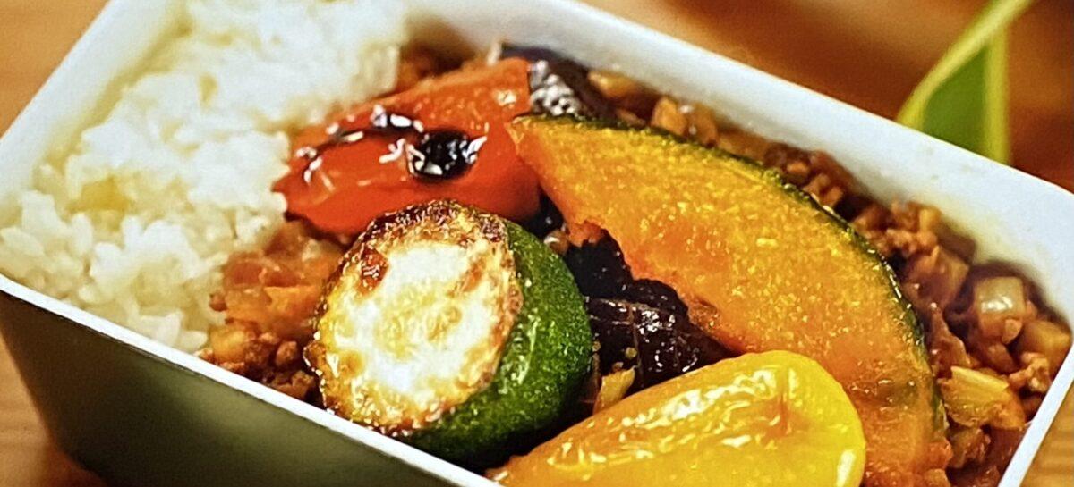 夏野菜たっぷりキーマカレー弁当 サタプラ映え弁当