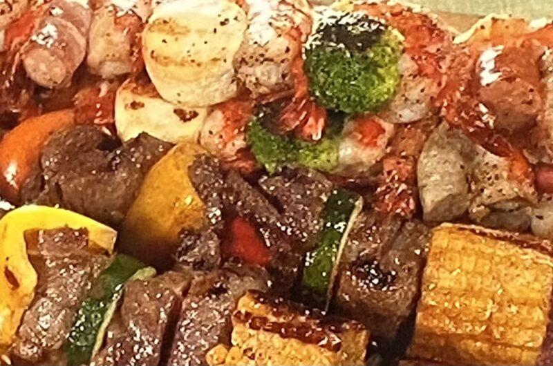 【ウワサのお客さま】肉とだっこエビのカラフル串焼きの作り方 コストコアレンジレシピ 谷あさこさん(8月20日)