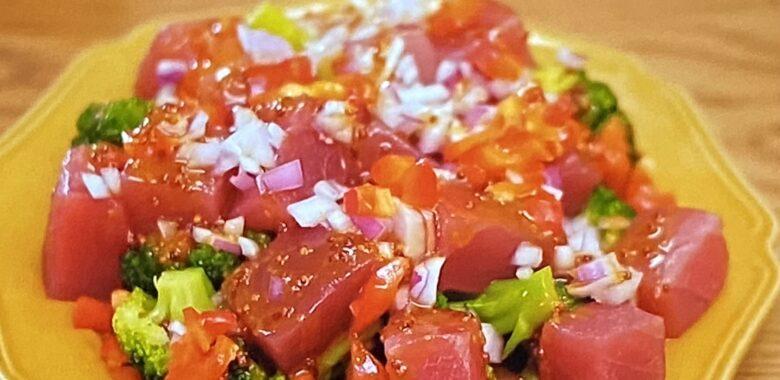 まぐろのカルパッチョ風サラダ ウワサのお客さま