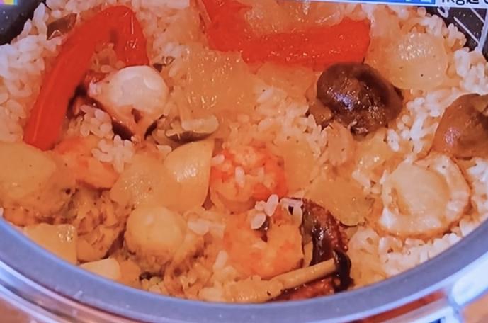 コストコシーフードアヒージョ炊き込みご飯