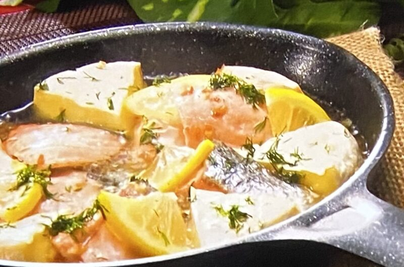 【ヒルナンデス】サケとレモンのチーズアヒージョの作り方 サバVSサケ調理法徹底討論 高羽ゆきさんのレシピ(9月29日)