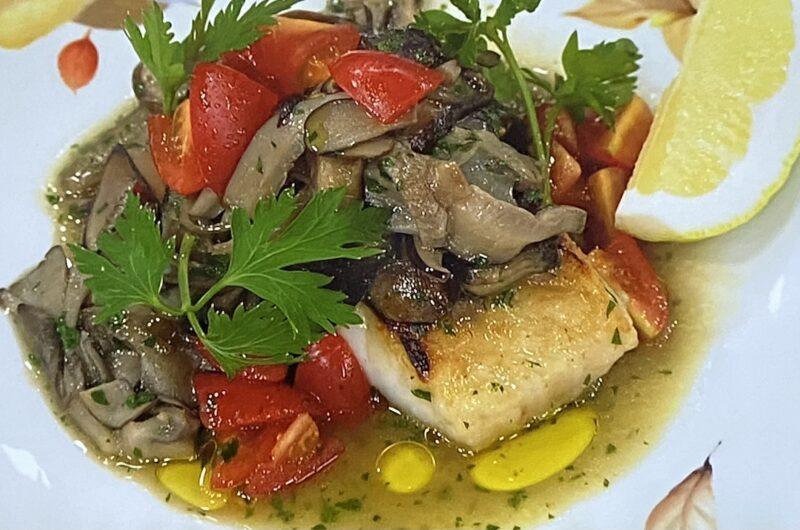 【あさイチ】万能きのこソースの白身魚のソテーの作り方 リストランテ濱崎シェフのレシピ(9月28日)