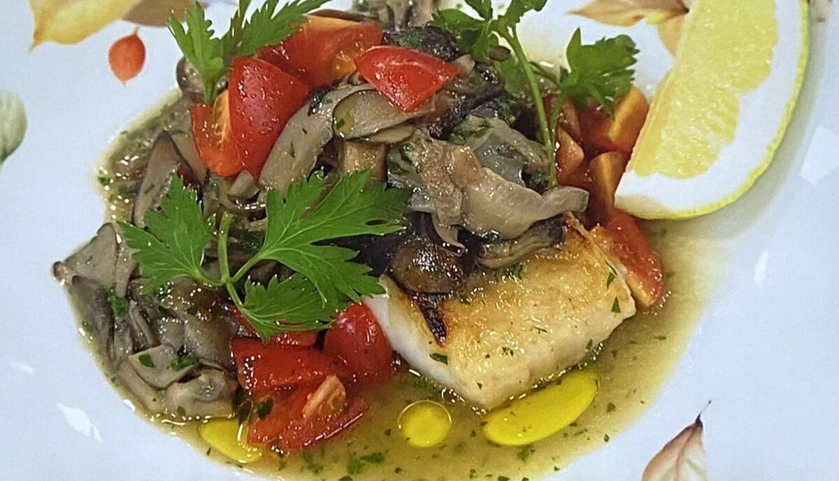 万能きのこソースで白身魚のソテー あさイチ