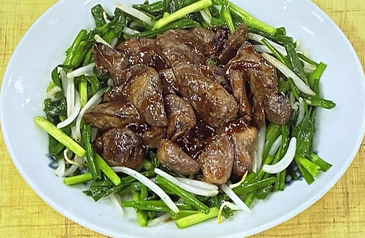 鶏レバニラ炒め あさイチ